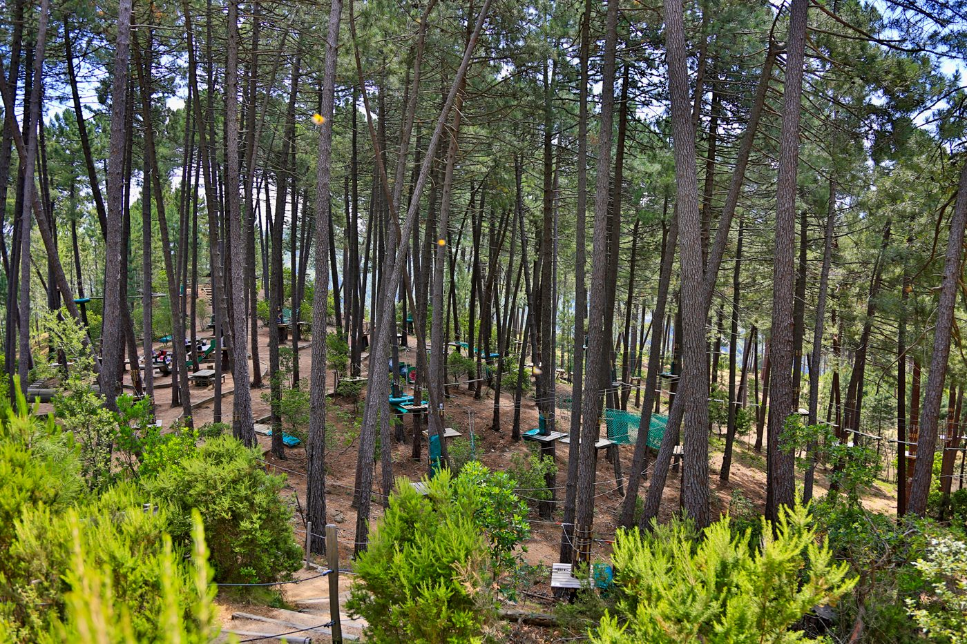 Parc aventure accrobranche de Vero en Corse