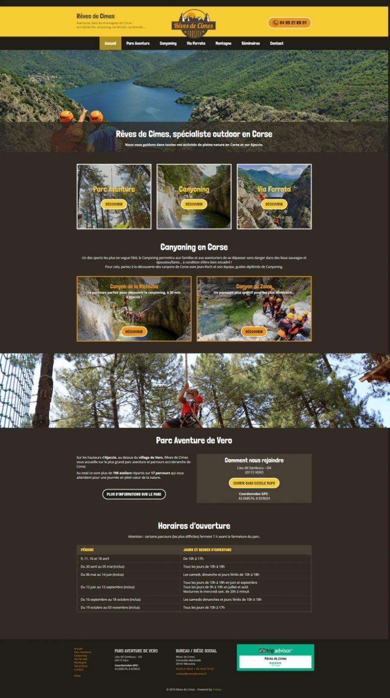 Nouveau site internet Reves de Cimes