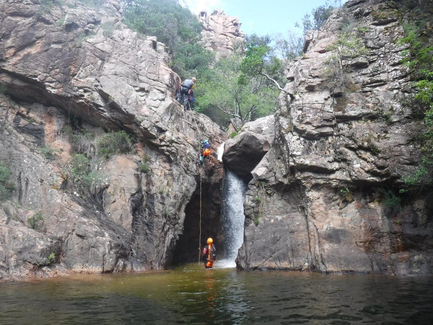 Rappel canyoning Baracci